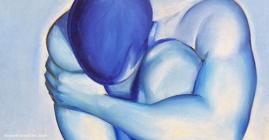 Blue Man Oil on Canvas Featured Image Mark Wallis