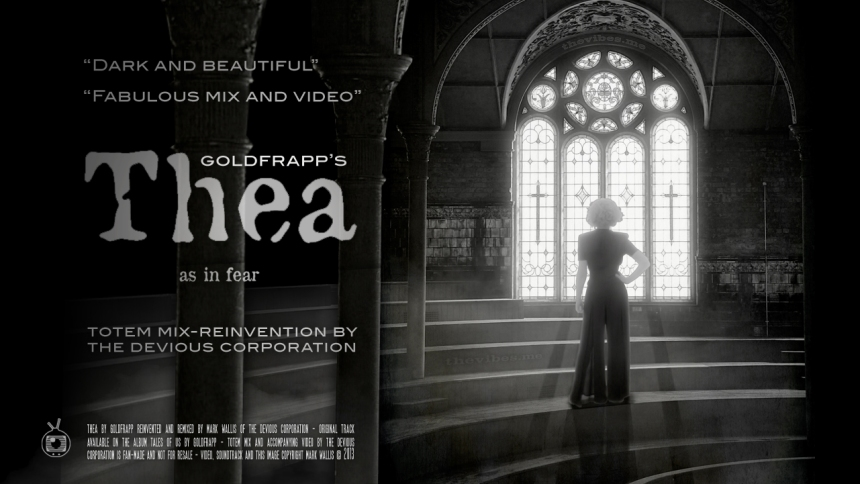 Promotional movie poster for Thea by Goldfrapp (totem mix by The Devious Corporation) by Mark Wallis