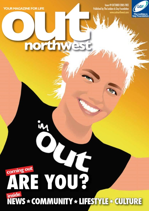 Out North West Magazine Coming Out Cover by Mark Wallis