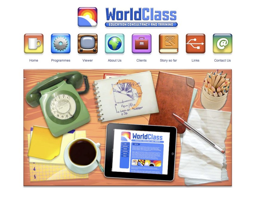 WorldClass education Website by Mark Wallis