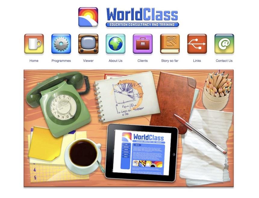 WorldClass education Website by Mark Wallis
