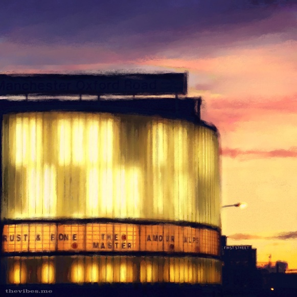 Cornerhouse Manchester Digital Painting by Mark Wallis