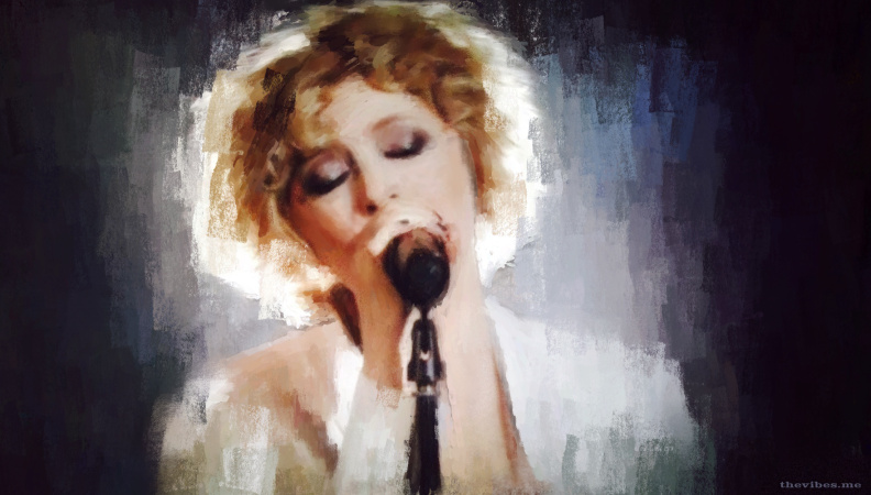 Digital painting of Alison Goldfrapp by Mark Wallis