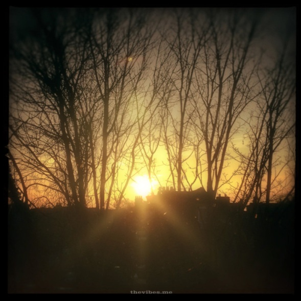 Chorlton Sunset by Mark Wallis