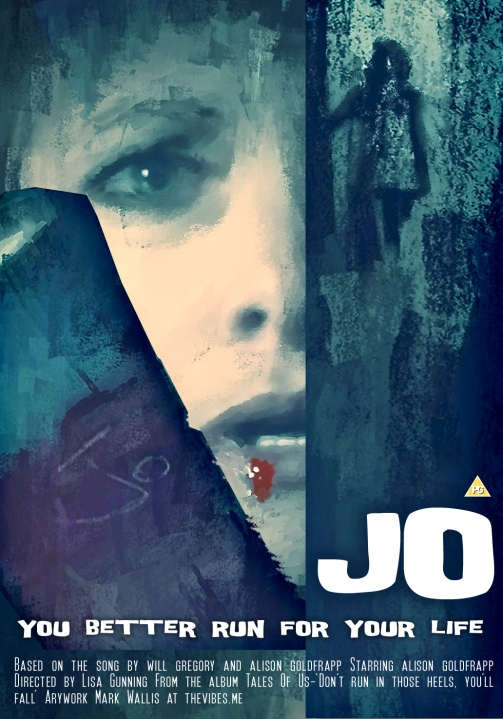 Goldfrapp - Jo, movie poster DVD cover by Mark Wallis