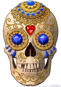 A sugar skull based on the Black Star skull in the video by David Bowie