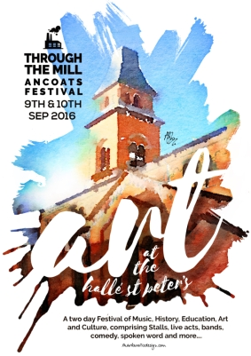 Commissioned poster for the Through The Mill arts festival