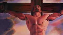 X Oil on canvas by Mark Wallis